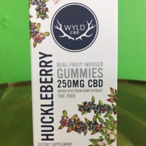 Huckleberry Wyld CBD Broad Spectrum Gummies 250mg