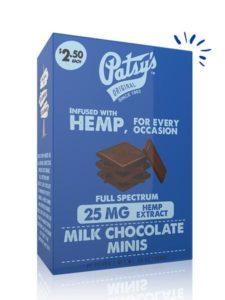 Patsy's Milk Chocolate Minis 25mg