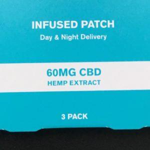 60mg Three Pack Transdermal Patches Social CBD- THC FREE