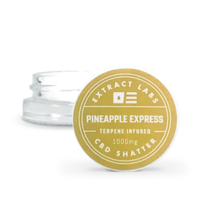 Extract Labs Pineapple Express 1G CBD Shatter Concentrate