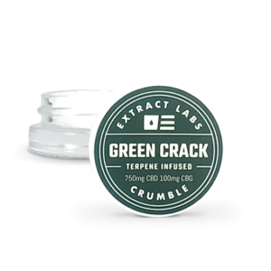 Extract Labs Green Crack 1G CBD Crumble Concentrate